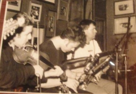 Loïc Bléjean with Paul Flynn and Jimmy Morrison, McGurk's Irish Pub, Saint Louis, MO, 1998