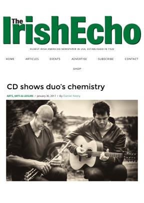 Loïc Bléjean and Tad Sargent, NYC Irish Echo, by Dan Neely