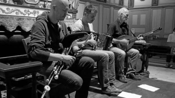 Loïc et Ronan Bléjean, Tony McCarthy, Chapelle du Vieux-Bourg, 2017